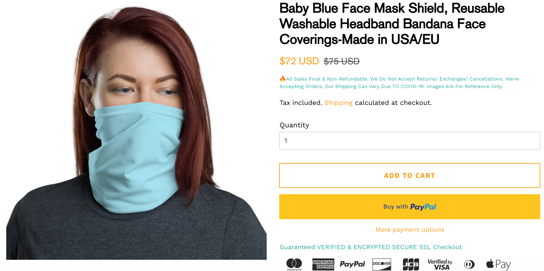 Compare Prices - Face Coverings