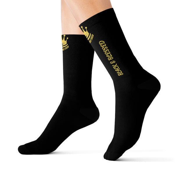 Black & Blessed Sublimation Socks