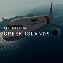 Load image into Gallery viewer, Airport2Sim Greek Islands