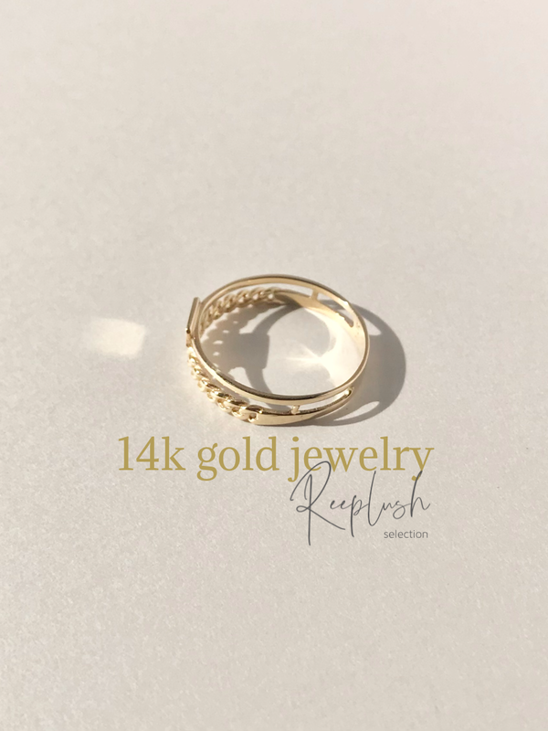 14K gold Ring - Hapi -