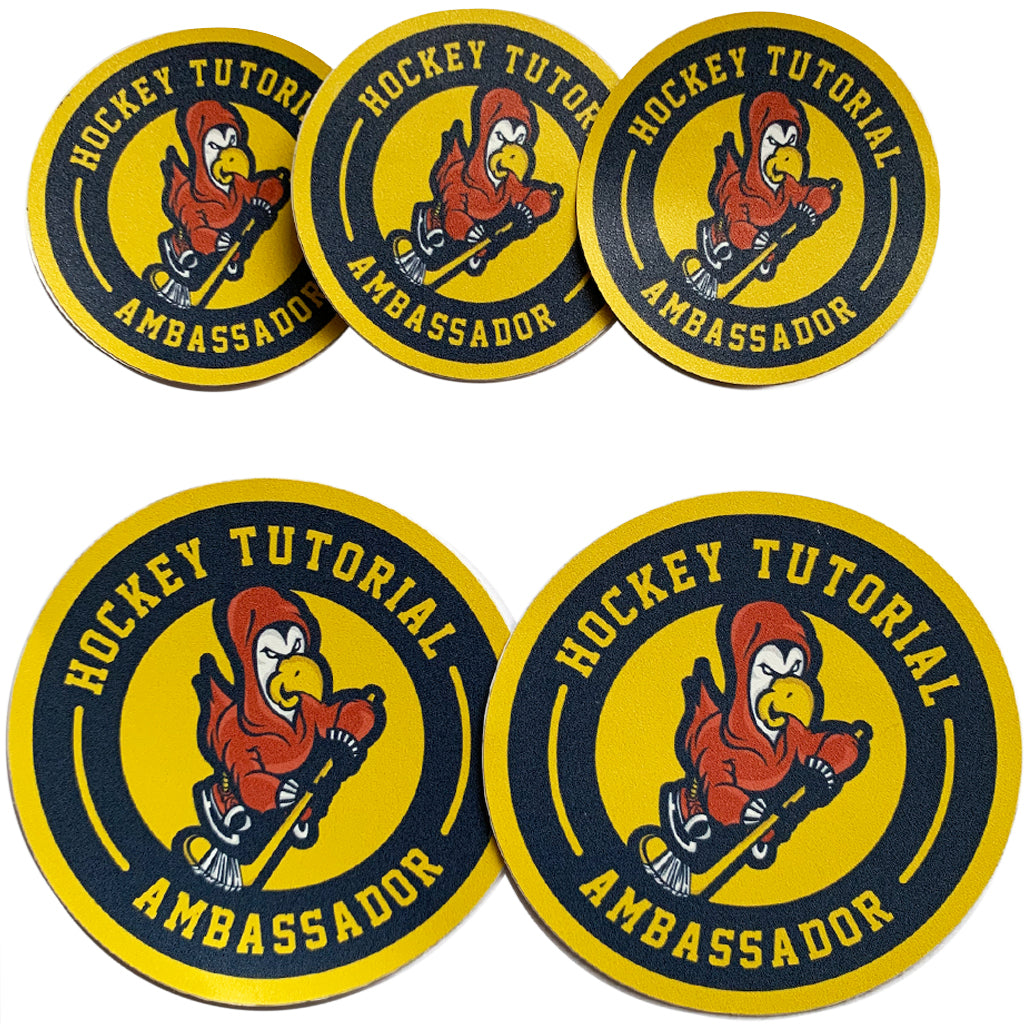 1. HockeyTutorial Ambassador Stickers (Packs of 4)