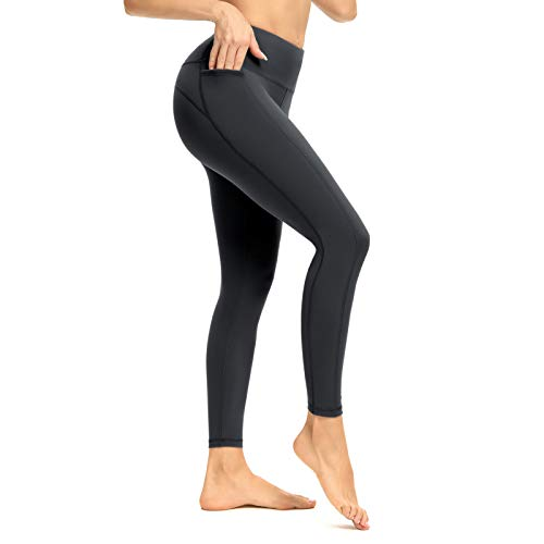Gym Leggings Women High Waist Yoga Leggings With Pockets Tummy Control Stretch Running Tights for Running Workout Gym Cycling