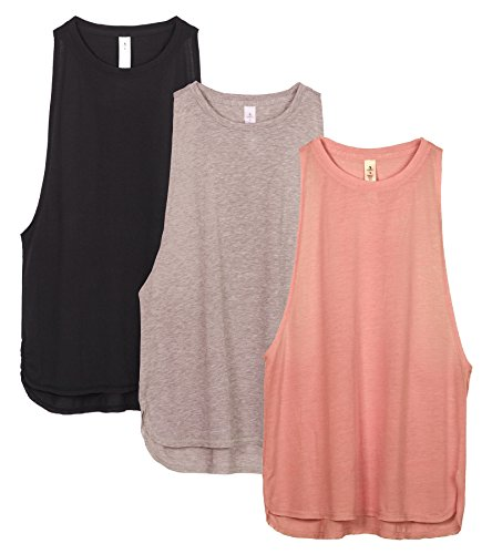 FITTIN Womens Racerback Workout Tank Tops Activewear Shirts for Yoga Sport Running Exercise Gym