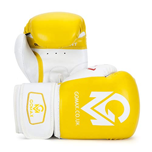 16 oz Boxing Gloves for Training Punching Sparring Punching Bag Boxing Bag Gloves Punch Bag Mitts Muay Thai Kickboxing MMA Martial Arts Workout Gloves 8 GoMax Leather Boxing Gloves 6 14 12 10