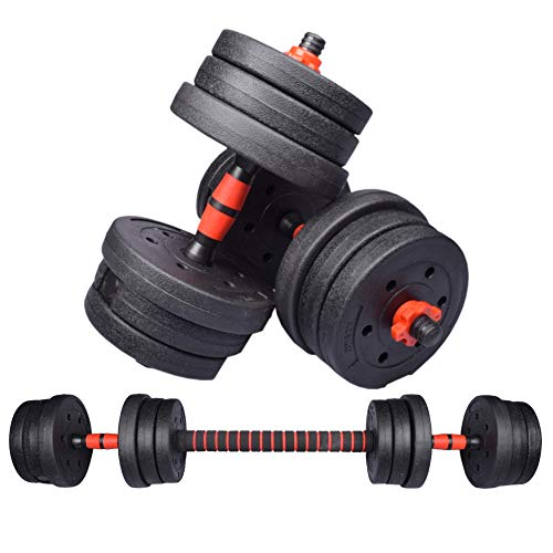 Adjustable Round Dumbbells Weights lifting Barbell Set 20 30Kg Home gym Exercise