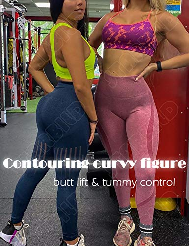 Womens Gym Seamless Fitness Leggings High Waist Pants Running Jogging Trousee T