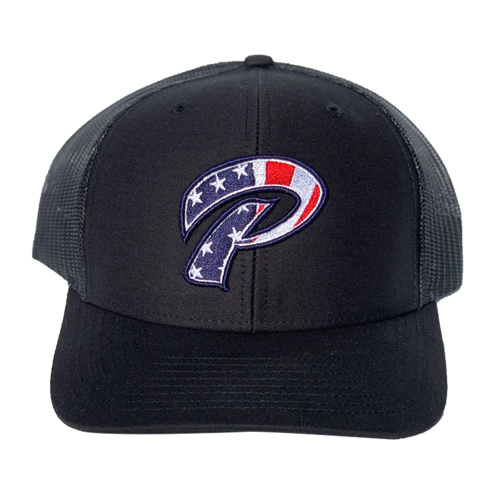 Phelps P Flag Hat Black Snapback