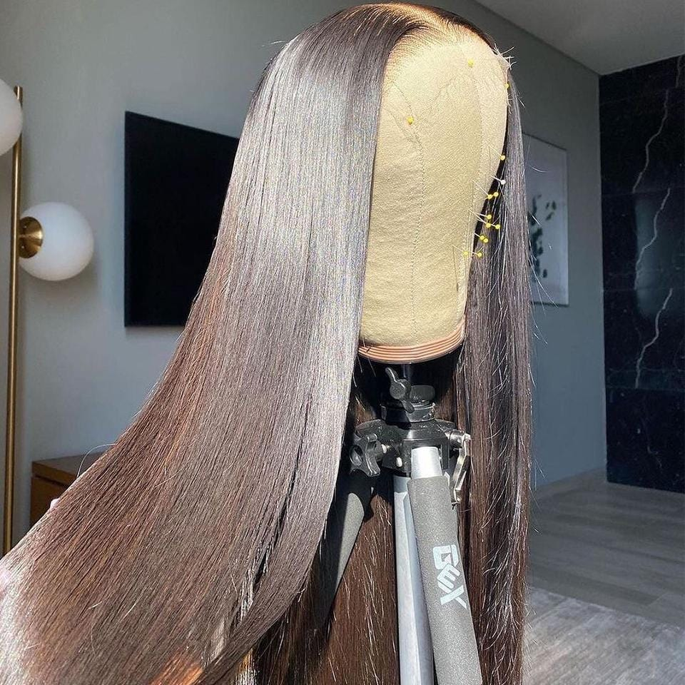 Undetectable Lace! 130% Density Swiss HD Transparent 13x4 Lace Frontal Straight Wig
