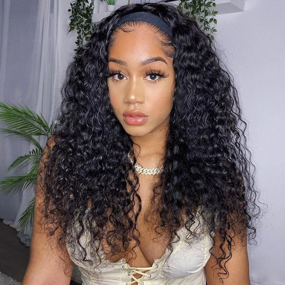 Affordable&Beginner Friendly Romatic Wave Curly Headband Wig