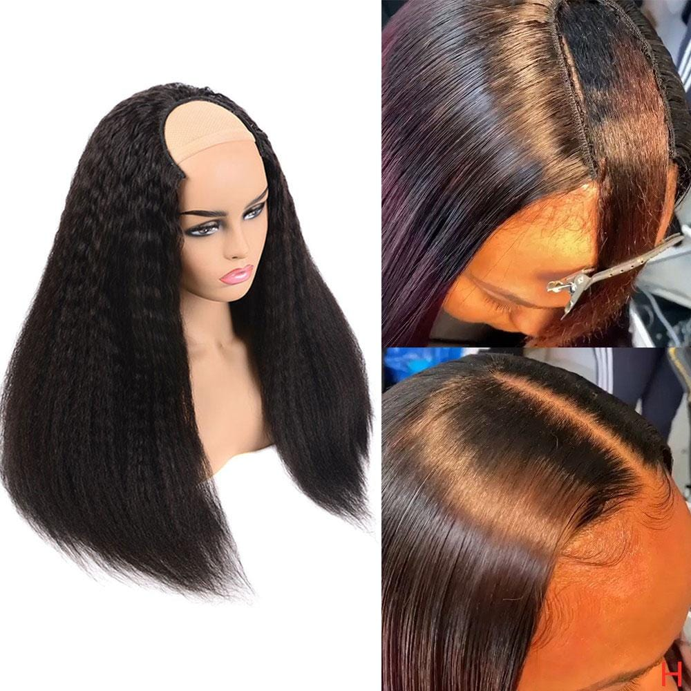 NEW! Fashionable Look Afro Kinky Straight U Part!
