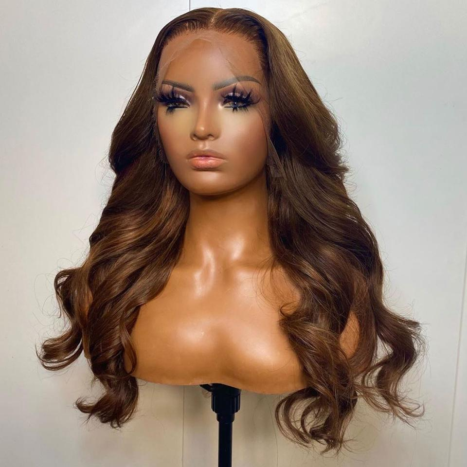 Warm Brown Classic Body Wave Lace Frontal Wig