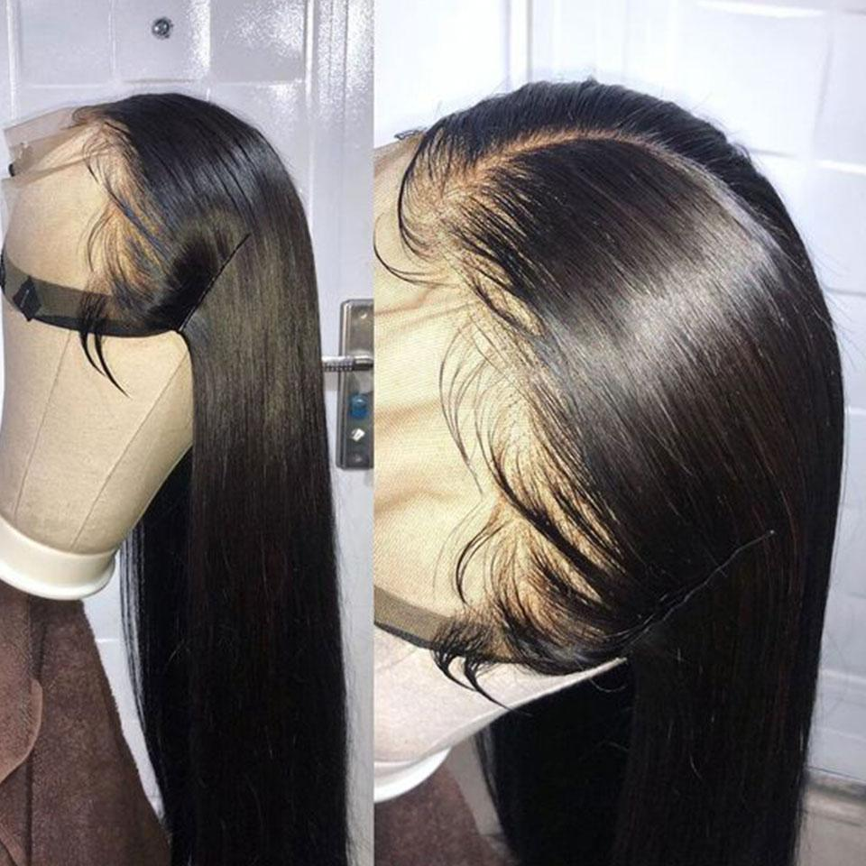 Cardi B Style Natural Black Breathable Straight Frontal Lace Wig