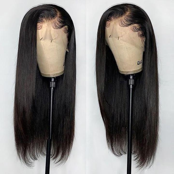 Natural Black Ariana Grande Styles Straight Lace Frontal Wig