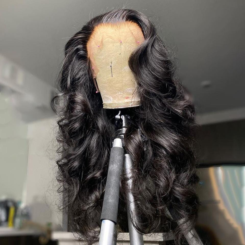 Kim Kardashian Celebrity Copycatting Loose Wave Lace Frontal Wig