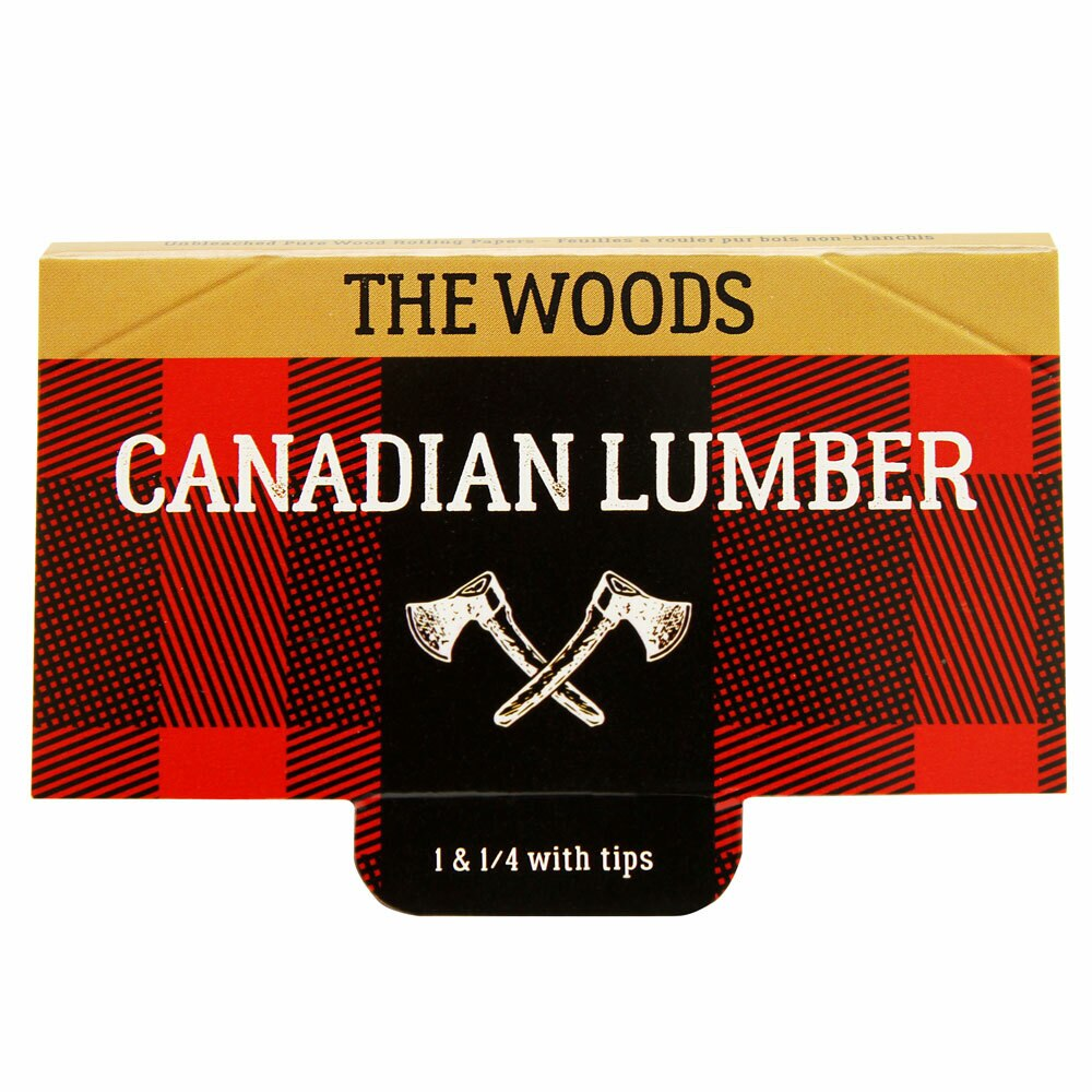 CANADIAN LUMBER WOODS 1 1/4 ROLLING PAPERS W/ TIPS