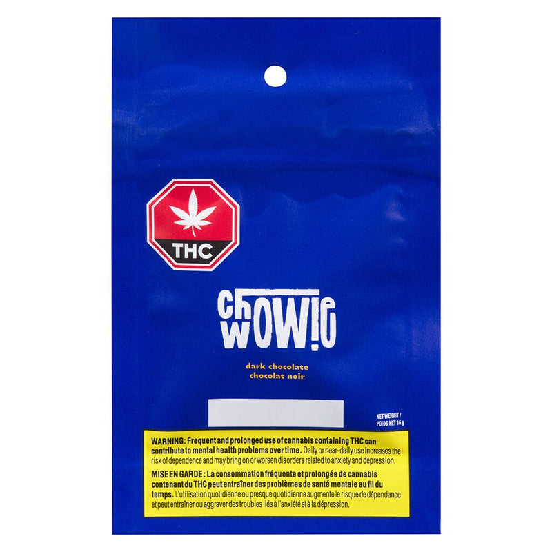 CHOWIE WOWIE DARK CHOCOLATE (H) CHOC - 10MG CBD X 2
