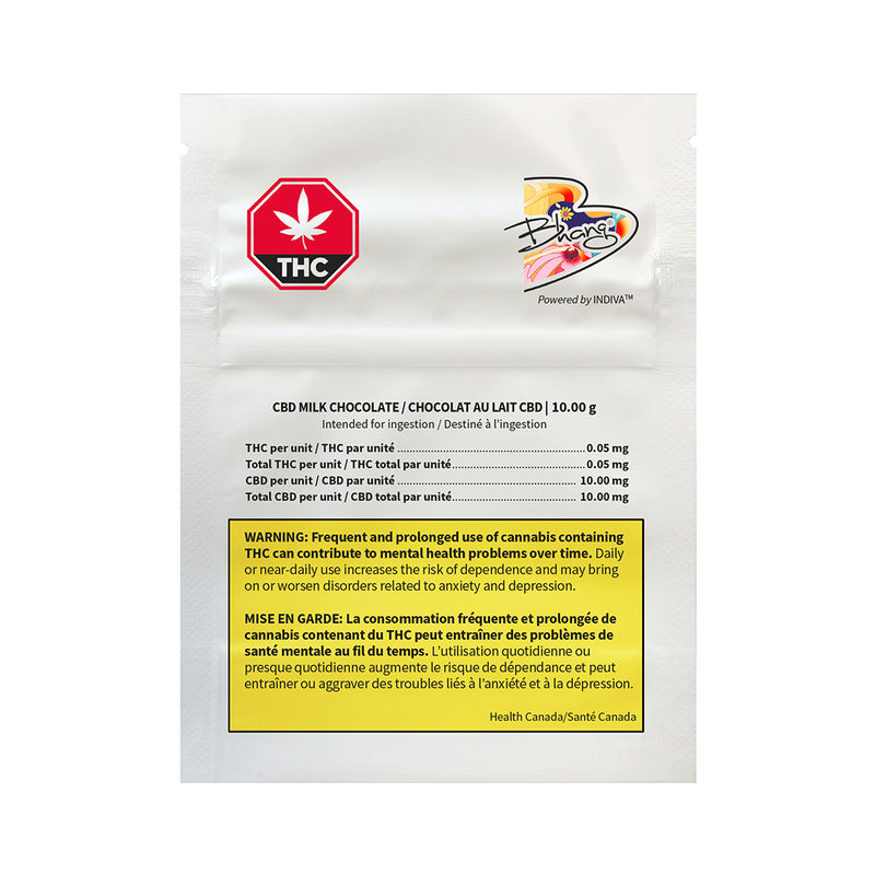 BHANG CBD MILK CHOCOLATE (H) CHOC - 10MG CBD X 1