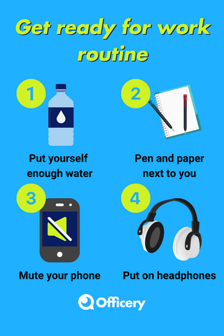 Get ready for work routine