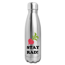 "Load image into Gallery viewer, ""Stay Rad"" Reusable Bottle - silver"