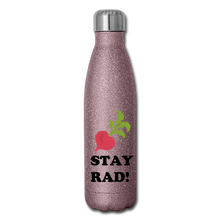 "Load image into Gallery viewer, ""Stay Rad"" Reusable Bottle - pink glitter"