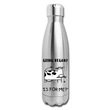 "Load image into Gallery viewer, ""IS FOR ME?"" Reusable Bottle - silver"