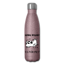 "Load image into Gallery viewer, ""IS FOR ME?"" Reusable Bottle - pink glitter"