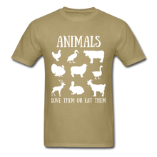 Load image into Gallery viewer, Love Them or Eat Them T-Shirt - khaki