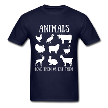 Load image into Gallery viewer, Love Them or Eat Them T-Shirt - navy