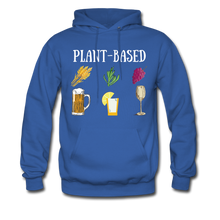 "Load image into Gallery viewer, ""Plant-Based"" Hoodie - royal blue"