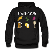 "Load image into Gallery viewer, ""Plant-Based"" Hoodie - black"