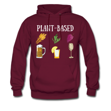 "Load image into Gallery viewer, ""Plant-Based"" Hoodie - burgundy"