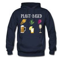 "Load image into Gallery viewer, ""Plant-Based"" Hoodie - navy"