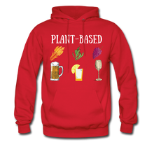 "Load image into Gallery viewer, ""Plant-Based"" Hoodie - red"