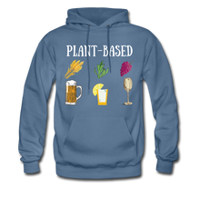 "Load image into Gallery viewer, ""Plant-Based"" Hoodie - denim blue"