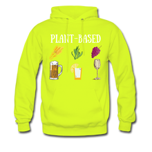 "Load image into Gallery viewer, ""Plant-Based"" Hoodie - safety green"