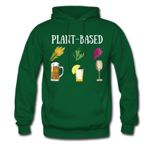 "Load image into Gallery viewer, ""Plant-Based"" Hoodie - forest green"