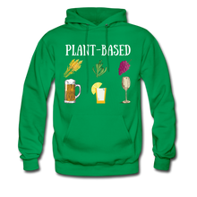 "Load image into Gallery viewer, ""Plant-Based"" Hoodie - kelly green"