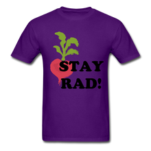 "Load image into Gallery viewer, ""Stay Rad!"" T-Shirt - purple"