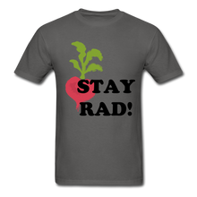 "Load image into Gallery viewer, ""Stay Rad!"" T-Shirt - charcoal"