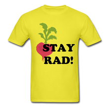 "Load image into Gallery viewer, ""Stay Rad!"" T-Shirt - yellow"