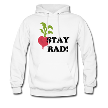 "Load image into Gallery viewer, ""Stay Rad!"" Hoodie - white"