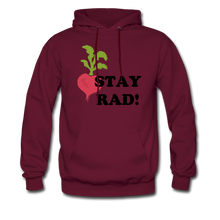 "Load image into Gallery viewer, ""Stay Rad!"" Hoodie - burgundy"