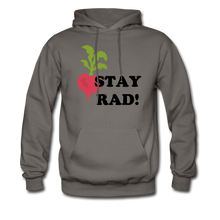"Load image into Gallery viewer, ""Stay Rad!"" Hoodie - asphalt gray"