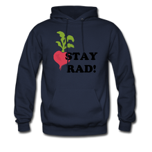 "Load image into Gallery viewer, ""Stay Rad!"" Hoodie - navy"