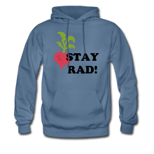 "Load image into Gallery viewer, ""Stay Rad!"" Hoodie - denim blue"