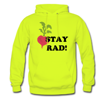 "Load image into Gallery viewer, ""Stay Rad!"" Hoodie - safety green"