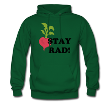 "Load image into Gallery viewer, ""Stay Rad!"" Hoodie - forest green"