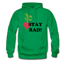 "Load image into Gallery viewer, ""Stay Rad!"" Hoodie - kelly green"