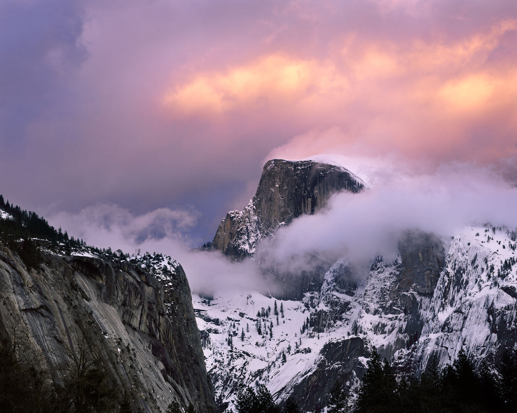 Fleeting Winter Glow Over Half Dome