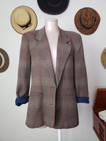 Load image into Gallery viewer, Liz Claiborne Plaid Blazer